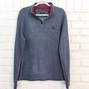 Ted Baker Blue Quarter Zip Pullover Size XL